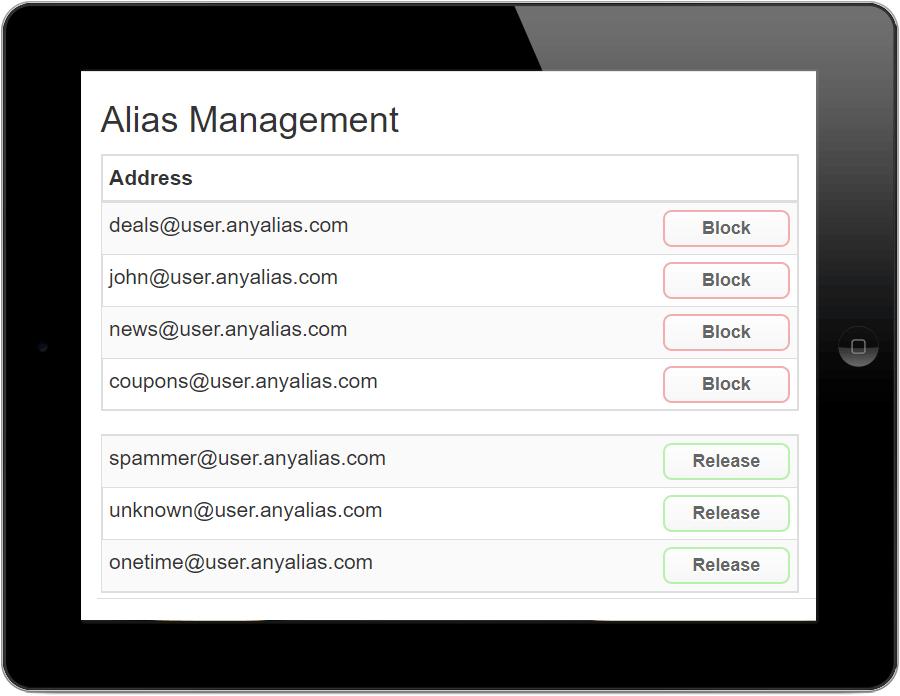 alias email