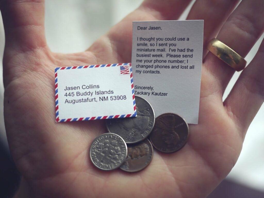 enveloppe miniature